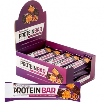 "Hel Låda Proteinbars ""Dark Choco & Orange"" 15 x 47g - 31% rabatt"