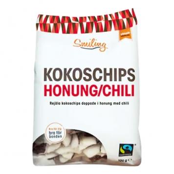 """Kokoschips """"Chili & Honung"""" 120g - 31% rabatt"""